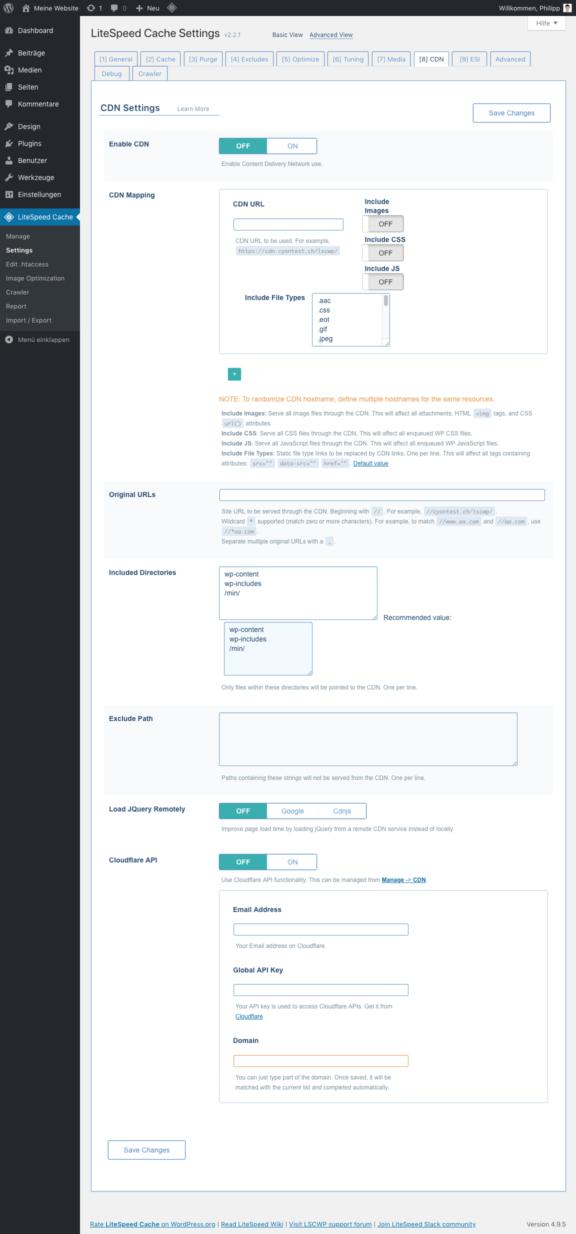 LiteSpeed Cache für WordPress - CDN