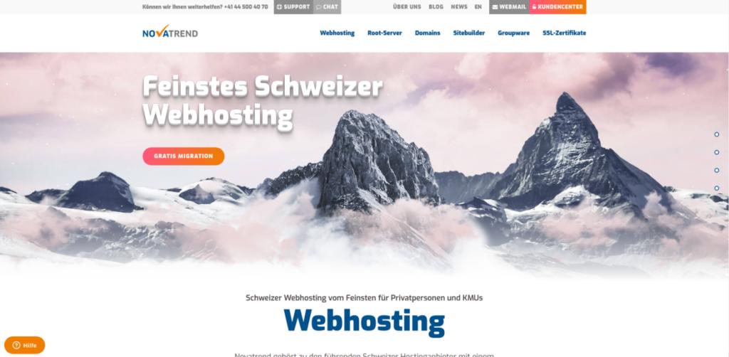 Neue Novatrend Webseite