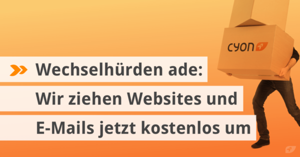 Wechselhürden ade: Wir ziehen Websites und E-Mails jetzt kostenlos um