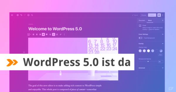WordPress 5.0 ist da