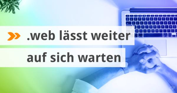 Die Domainendung .web lässt weiter auf sich warten.