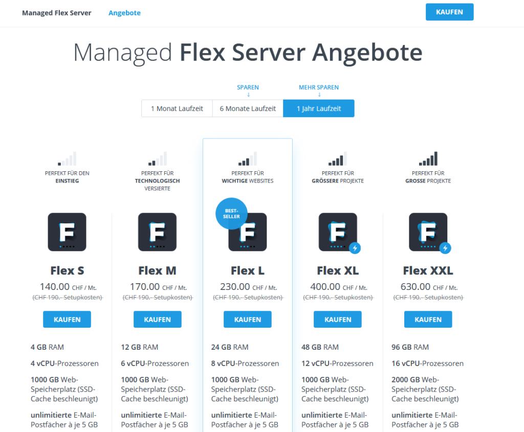 Neue Managed-Flex Angebote
