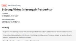 Cloud-Anbieter Nine hat einen Ausfall