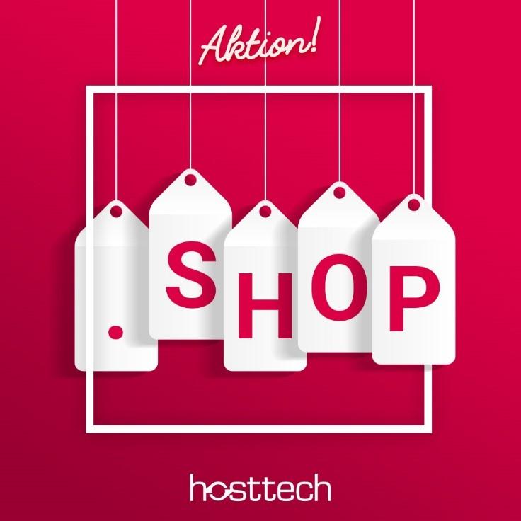 .shop Aktion bei hosttech
