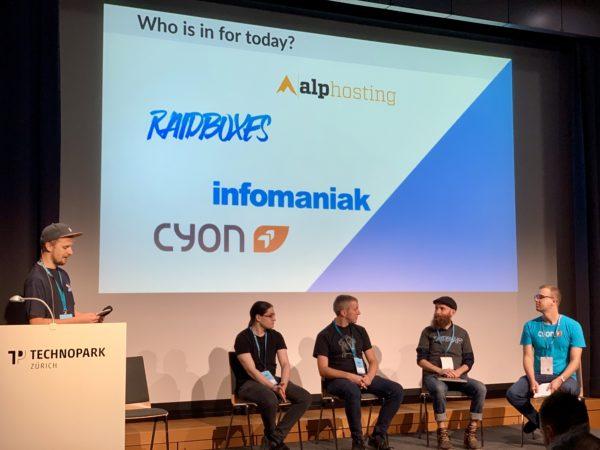 Roast-my-Host-Panel, WordCamp Zürich 2019.