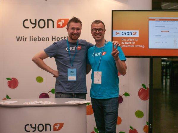 David und Philippe am WordCamp Zürich 2019.