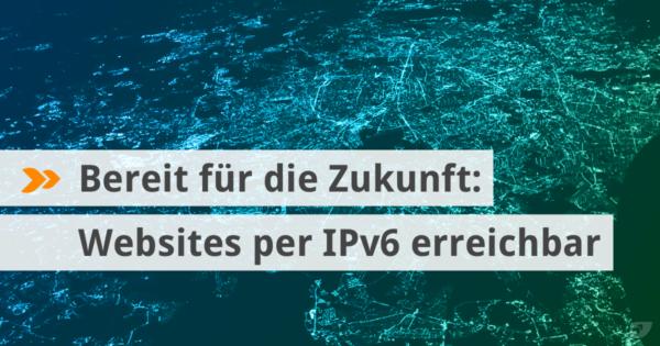 Websites bei cyon jetzt per IPv6 erreichbar.